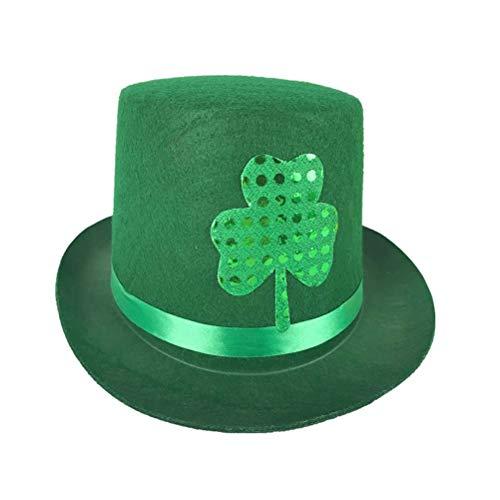 Amosfun Sombrero del día de San Patricio Irish Festival Decor Hat Gorra  Simple para la Fiesta e5452f3b7f2