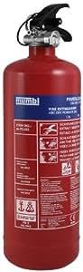 mumbi m-FL102 Feuerlöscher Pulver 2KG ABC mit Manometer und Halterung / konform nach DIN EN 3