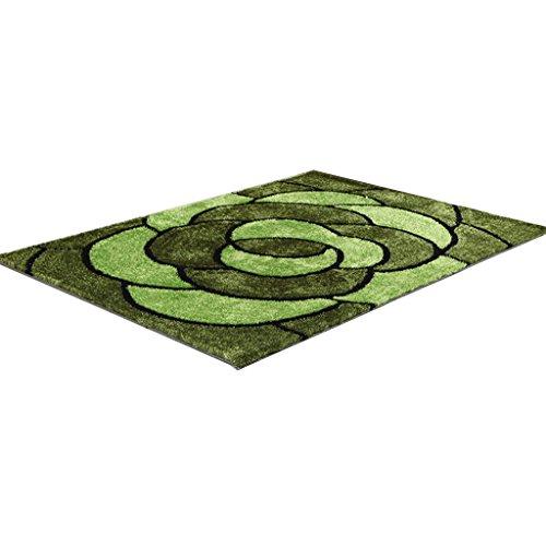 CYALZ Polyester Grün Braun Blumenmuster Modern Einfach Stripe Style Home Textilien Türsprechanlage...