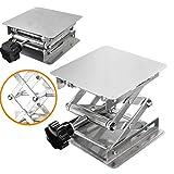 Plateformes élévatrices à Ciseau,Élévatrice de Laboratoire d'aluminium 100 x 100mm Acier inoxydable Lab plate-forme de levage...