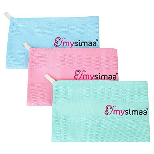 mysimaa® Classic Putztücher Premium Profi Microfaser Allzweck-Reinigungstücher ohne Putzmittel für Streifenfreien Glanz im Haushalt, Auto, Büro sowie für Fenster Spiegel Glas UVM.