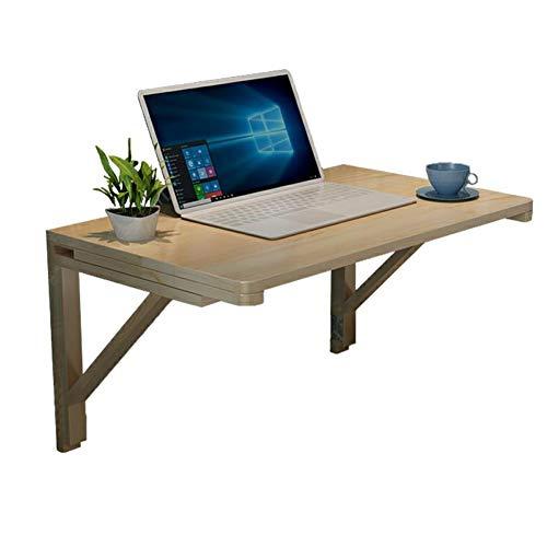 Zfggd Massivholz-Klapptisch-Computer-Schreibtisch an der Wand befestigter Tabellen-Tropfen-Blatt-Speisetisch-Arbeitsplatz, Büro-Regal-Speicher-Raum, 7 Größen (Size : 50x30CM)