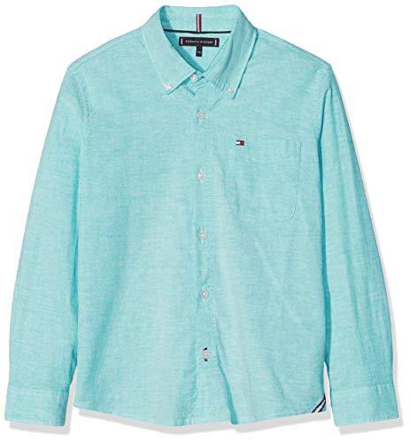 n Essential SOLID Oxford Shirt L/S Hemd, Grün (Dynasty Green 303), 164 (Herstellergröße: 14) ()
