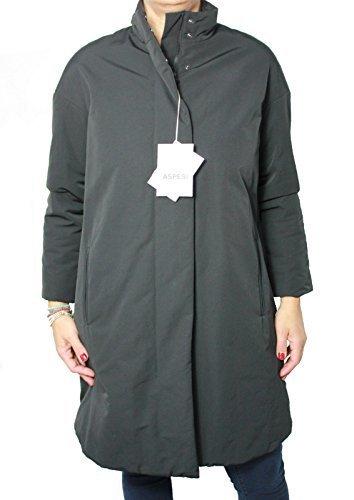 ASPESI giaccone donna XL mod DARK ROOM N 2N42 7532 nero imbottitura in THERMORE