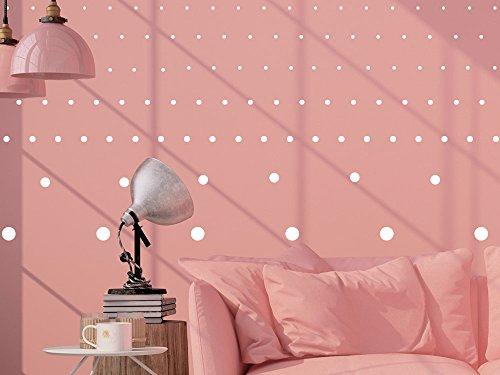Graz Design® Konfetti Wandaufkleber Wandsticker Wandtattoo 130 Punkte Dots zwei Bögen Set (DIN A4 (2Stück) // 091 gold)