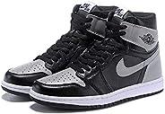 Air Jordan 1 Black and white gray Unisex combat basketball shoes