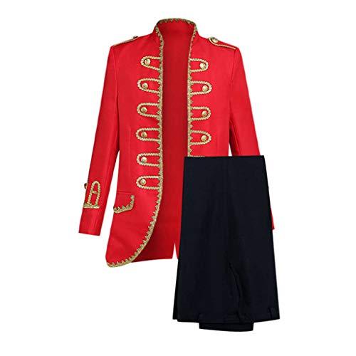 Herren Retro Smokings + Hosen European Style Gericht Kostüme Militäruniformen Leistungen Anzüge Sakkos Cosplay Kostüm Karneval Kostüm Party - Prime Rib Kostüm