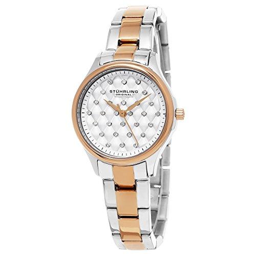 Stuhrling Original - Audrey - 783.03 - Montre bracelet - Quartz - Affichage - Analogique - Bracelet - Acier inoxydable - Bicolore - Cadran - Argent - Femme