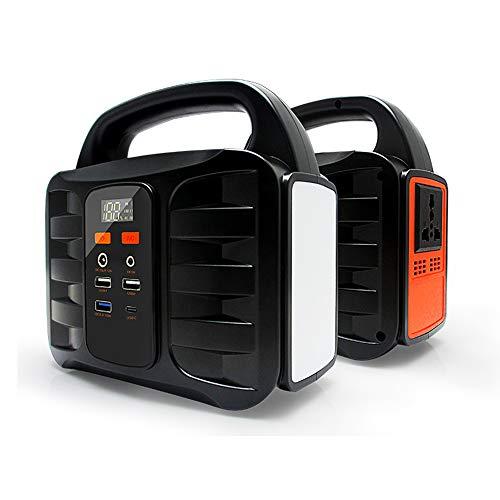 TIANQING Tragbarer Stromgenerator 42000mAh / 155Wh Solarkraftwerk, Wechselrichter CPAP-Notstromversorgung, mit 4 USB-Anschlüssen 2 Wechselstromanschlüsse, für Campingnotfälle geeignet