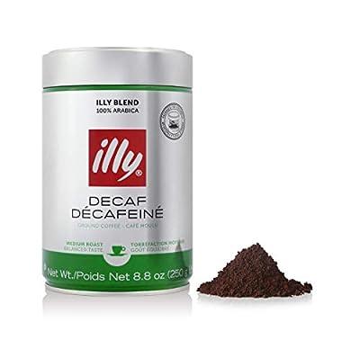 illy Decaffeinated Medium Roast Ground Coffee, 250 g by illy