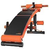 DLT Gym AB Bench Decline Slant Board, schwarz Übung Reverse Crunch Griff Bauchverlängerung Bank Leg Developer Fitness Sit Up Assist Bar