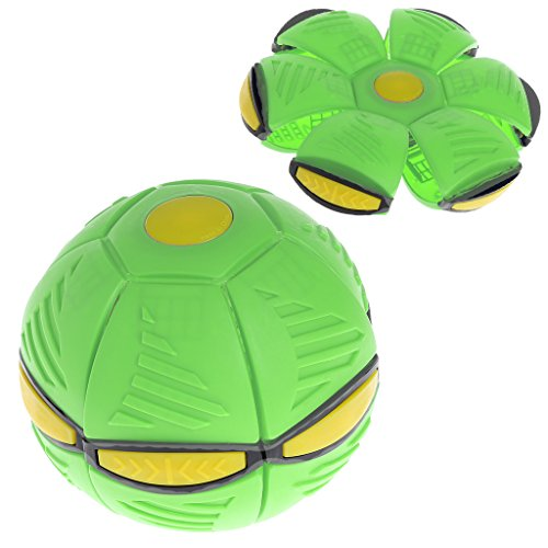 Chuxioner UFO Fliegender Ball für Stressabbau, Diskokugel mit LED-Licht, für Kinder im Freien, Garten, Strand