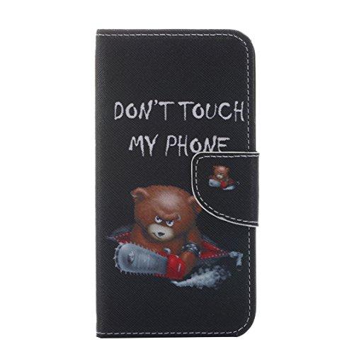 AYASHO® Coque iPhone SE / 5s, PU Cuir Etui Pochette Flip Wallet Housse Motif Style Mode Bookstyle Case Cas Portable Holster Pour Apple iPhone SE (Special Edition) / 5 / 5s , A28 A13