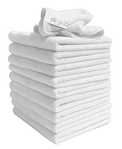 EXEL 10Stück original weiß Super Magic Flusenfreie Mikrofaser-Reinigungstücher für polieren, Waschen, Wachsen und Staubwischen. -