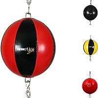 TurnerMAX Doppelendbälle Muay Thai Geschwindigkeitsball Stanzen Bag mit elastischer Träger Vinyl