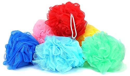 com-four® 6 spugne Doccia in Diversi Colori (la Scelta del Colore può variare) (06 Pezzi - Colorati)