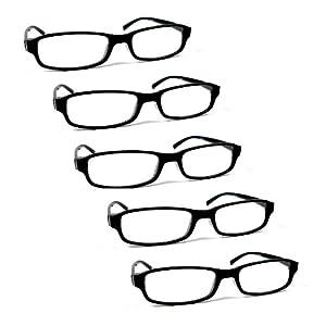 flevado 5 er Pack Lesebrillen Damen oder Herren Stärken der Brillen Lesehilfen +1.0/+1.5/+2.0/+2.5/+3/+3.5/+4 sind wählbar