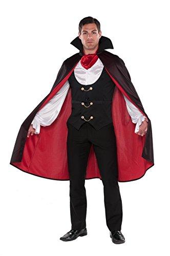 Sarg Vampir Kostüm (Confettery - Herren Hochwertiges Vampir Kostüm, Mehrfarbig, Größe)