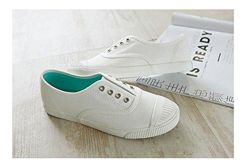 ALUK- Printemps et automne version coréenne de minces chaussures respirantes chaussures plates chaussures plates ( couleur : Blanc , taille : 39 ) Blanc