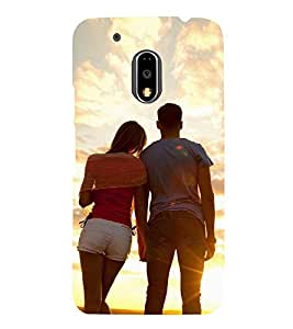 PrintVisa Couple Romance 3D Hard Polycarbonate Designer Back Case Cover for Motorola Moto G4
