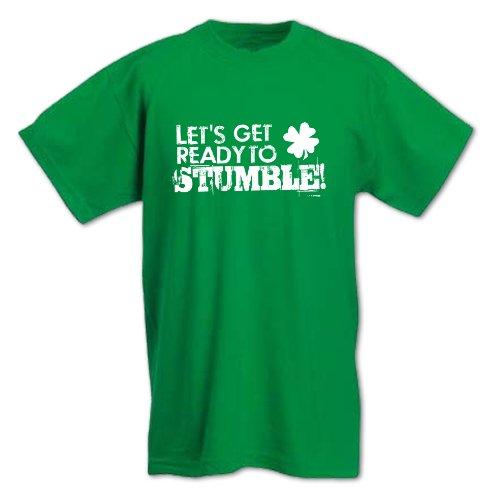 Herren Bereit Zum Stolpern St Patrick's Day T-Shirt Grün