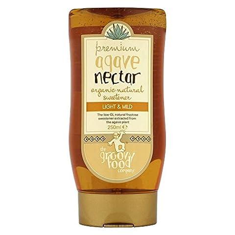 Le Groovy Food Company Agave Nectar organique édulcorant naturel doux (250ml) - Paquet de 6