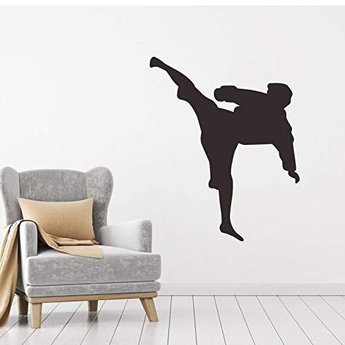 Taekwondo Club (yiyitop Boxing Club Taekwondo Karate Aufkleber Kick Aufkleber Kampf Dom Wall Forward Poster Dekoration 10 * 12 cm)