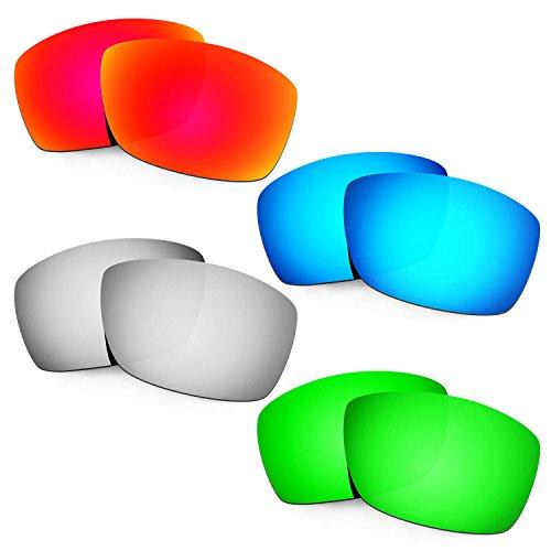 HKUCO Mens Replacement Lenses For Costa Corbina Red/Blue/Titanium/Emerald Green Sunglasses