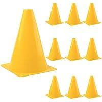 Foxom - Conos para actividades y entrenamiento deportivos, 10 unidades, amarillo