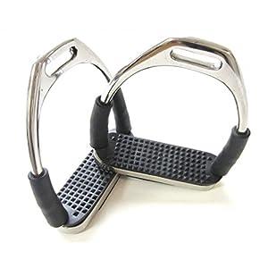 PS Pferdeartikel Sicherheits-Steigbügel für Kinder mit Gelenken – Silber