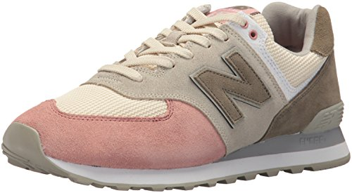 New Balance Men's 574 Serpent Luxe Sneaker,Bone With Dusted Peach,9.5 2E US (574 Laufschuh)