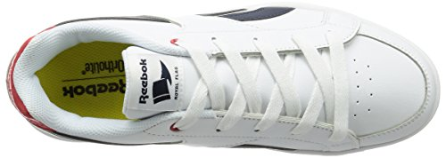 Reebok Jungen Royal Prime Turnschuhe Blanco / Azul / Rojo (White/Navy/Motor Red)