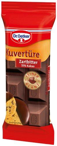 Dr. Oetker Kuvertüre Zartbitter 55 % Kakao, 6er Pack (6 x 150 g)