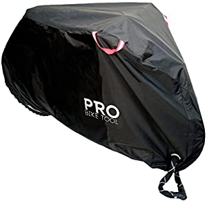 Pro Bike Cover for Outdoor Bicycle Storage - Large or XL - Heavy Duty Ripstop Material, Waterproof & Anti-UV - Protection from All Weather Conditions for Mountain, 29er, Road, Cruiser & Hybrid Bikes