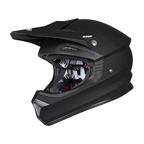 SHOT Motocrosshelm Furious schwarz matt XXL 63-64cm-XXL 63-64cm
