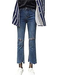 COCO clothing Herbst Jeans Damen Skinny Hose Straight Leg Freizeithosen  Zerrissene Frauen Hoher Bund Stretch 7 712607c814