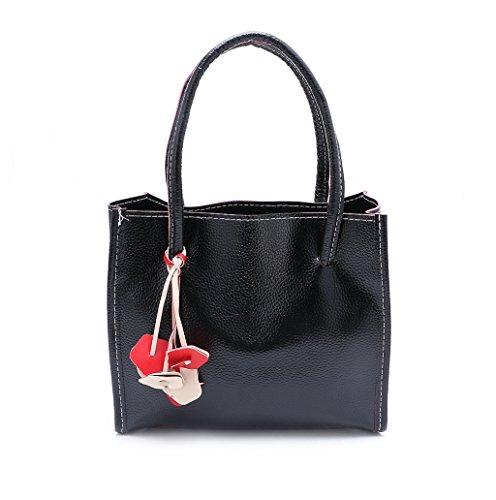 Dairyshop Sacchetto di Hobo della borsa del messaggero delle borse delle donne di modo (giallo) nero