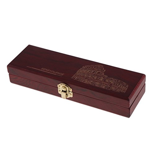 MagiDeal Vintage Boîte de Stockage en Bois Boîtier de Rangement Rasoir Droit à Coupe Choux de Rasage / Boîte Cadeau de Haute Qualité / Coffret Bijoux