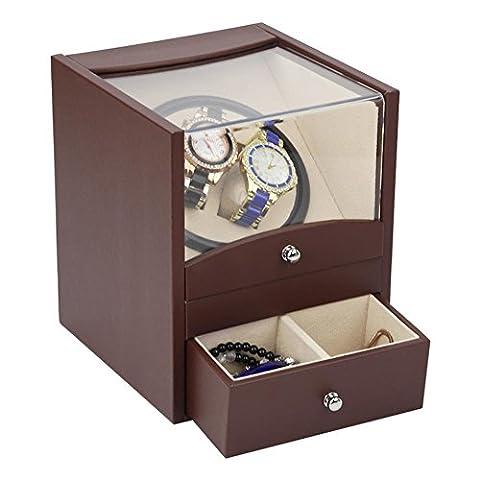 New Automatic Watch Winder Remontoir pour 2 montres?avec tiroirs?5 couleurs