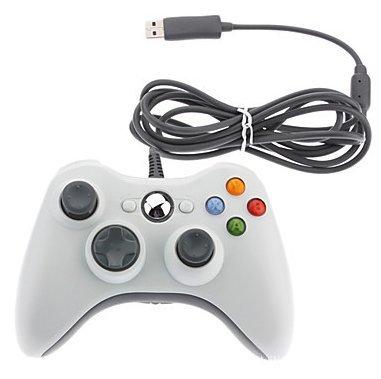 Wired Controller USB-Kabel Gamepads für Microsoft Xbox 360Konsole/PC/Fenster XP7 Weiß Weiß (360 Xbox Steuerung Kabel)