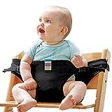 Baby-Essgurt Sicherheitssitz Mit Esstisch-Sicherheitsgurt Baby-Esstisch Zusatz Band,Black