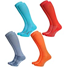 Rainbow Socks - Hombre Mujer Calcetines Largos de Deporte