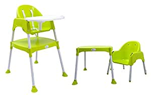 Cherry Berry - The Convertible Baby High Chair from R for Rabbit - Green (Without Cushion)