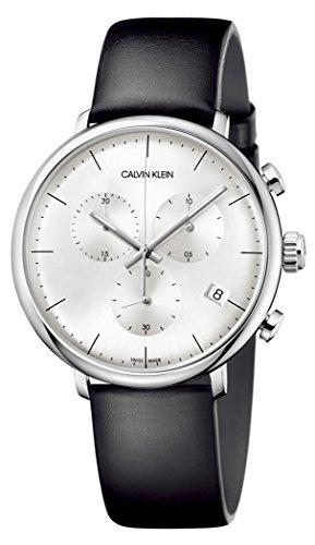 Orologio Calvin Klein Uomo K8M271C6 Al quarzo (batteria) Acciaio Quandrante Argento Cinturino Pelle