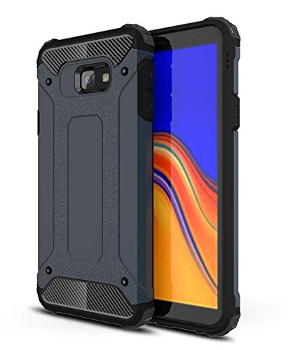 AOBOK Samsung Galaxy J4 Plus Case, Dark Blue Hybrid Armor Cover Extreme Drop Protection and Air Cushion Technology, Anti-Scratch, Case for Samsung Galaxy J4 Plus Smart Phone