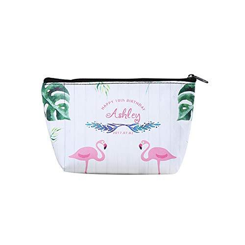 Neceser portátil con diseño de flamenco y sandía, bolsa de almacenamiento de gran capacidad, regalo 3# talla única