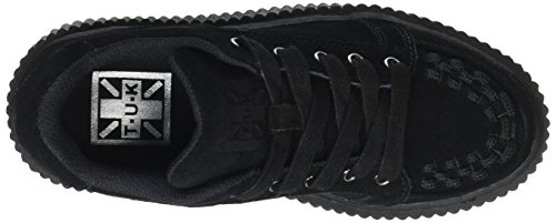 TUK Casbah Creeper Interlaced, Scarpe Stringate Basse Oxford Unisex – Adulto Noir (Black Cow Suede)