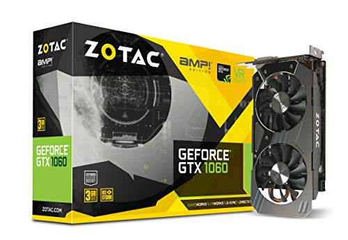 Zotac GeForce GTX 1060 AMP GeForce GTX 1060 3GB GDDR5 - Tarjeta gráfica (GeForce GTX 1060, 3 GB, GDDR5, 192 bit, 8000 MHz, PCI Express 3.0)