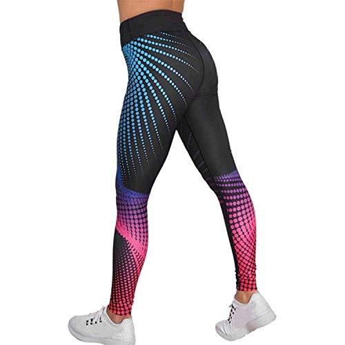 d4fe6271bb LaLaAreal Mallas Deportivas Mujer Leggins Yoga Pantalon Elastico Cintura  Altura Polainas para Running Pilates Fitness (