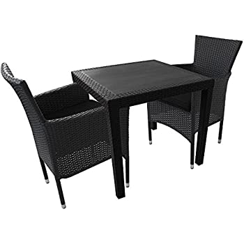 clp poly rattan balkonm bel sitzgruppe alena 2 personen aluminium gestell platzsparend. Black Bedroom Furniture Sets. Home Design Ideas